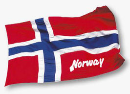 STICKERS, NORSK FLAGG