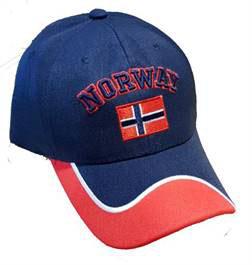 Norges kolleksjon, caps, Rød, hvit blå