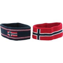 Stirnband mit norsk Flagg