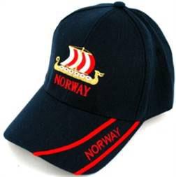 Norges Kolleksjon, caps med Viking Skip,sort