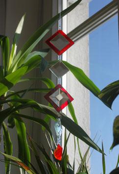 Spiegelfacettenkette mit Farbglas