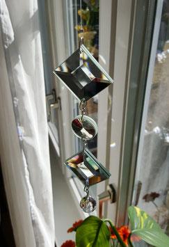 Spiegelkette mit Swarovski-Juwel
