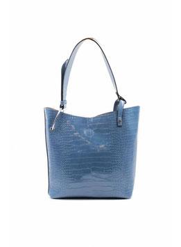 Schultertasche blau mit Innentasche ST2006003
