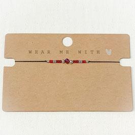 Armband mit Perlen fein rot