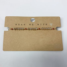 Armband Seed Beads braun gold