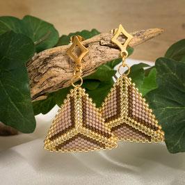 Ohrhänger mit Miyuki Perlen Dreieck