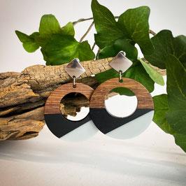 Ohrringe Holz rund