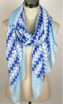 Viskose Schal blau 209128