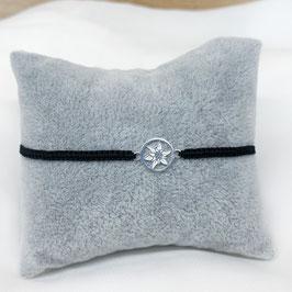 Armband geknüpft mit Edelweiß aus 925 Sterling Silber
