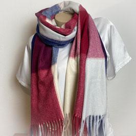 Warmer Schal Karo rot/blau SH30018