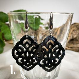 Ohrringe aus Kunstharz - Raute