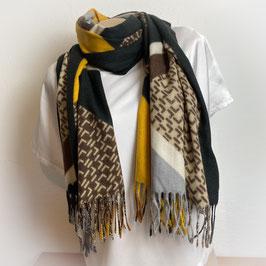 Warmer Schal  in schwarz SH30010