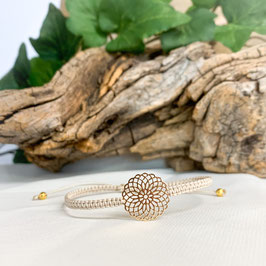 Feines Armband geknüpft, Mandala Gold