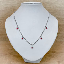 Kette mit Charms - rot