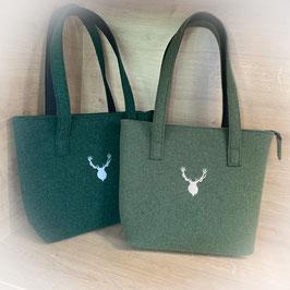 Trachtentasche aus Filz mit Hirsch