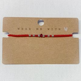 Armband mit Perlen- rot