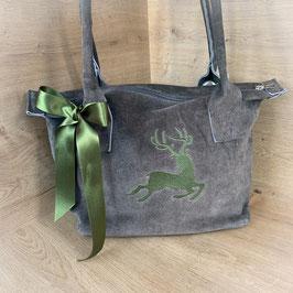 Wildleder Tasche mit Hirsch Motiv von Rosi Bavaria