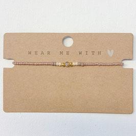 Armband mit Perlen- gold