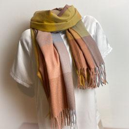Warmer Schal Karo senf/camel  SH30015