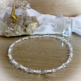 Bergkristall Kette aus natürlichen Bergkristall Perlen, crashed und geschliffen