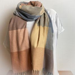 Warmer Schal Karo beige/grau  SH30016