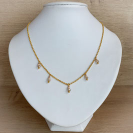 Kette mit Charms - gold
