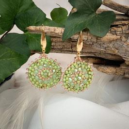 Bezaubernde Ohrringe Seed Beads Grün