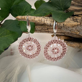 Bezaubernde Ohrringe Seed Beads Altrosa