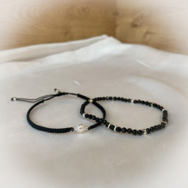 Armband geknüpft, Edelsteinarmband Spinell