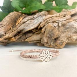 Armband geknüpft, keltischer Knoten Silber