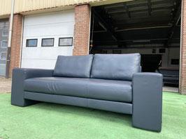 Bankstel ROLF BENZ blauw leren 2,5 zit design bank sofa Z.G.A.N. + GRATIS BEZORGING!