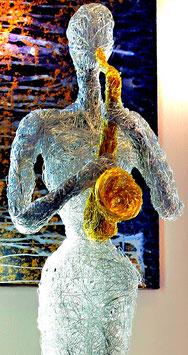 """""""Die Musikerin mit dem Saxophon"""""""