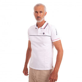 CAMBE POLO HERITAGE BLANC