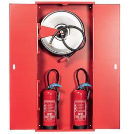 Feuerlöschposten ORION 72 mit Platz für zwei Feuerlöscher