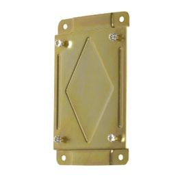Montageplatte zu Federrückzughaspel Stahl lackiert