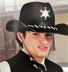 Sombrero Sherif fieltro negro (guirca)
