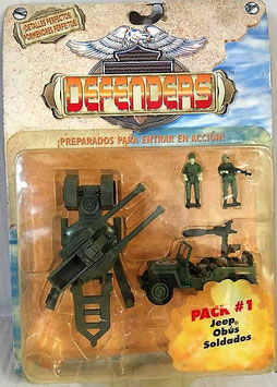Pak-1 Jeep Obús Soldados (Defenders)
