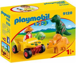 Playmobil 1.2.3 Quad de Dinosaurios
