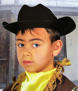 Smbrero Vaquero fieltro infantil negro (guirca)