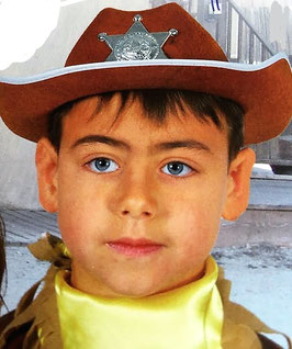 Sombrero Sherif fieltro infantil marrón (guirca)