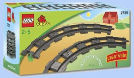 Vias curvas de tren