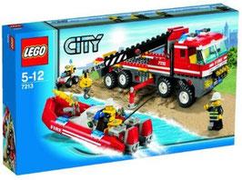 Camión de Bomberos con Lancha (Lego city)