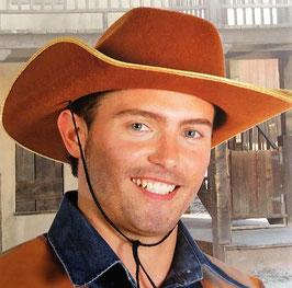 Sombrero Vaquero fieltro marrón (guirca)