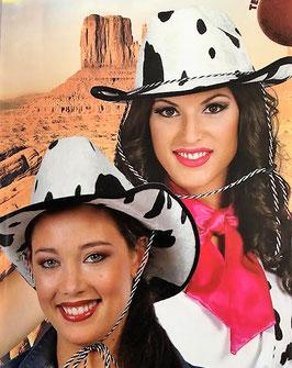 Sombrero Vaquero Vaca Terciopelo (guirca)