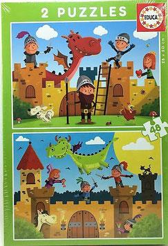 PUZZLE  Dragones y Caballeros  EDUCA