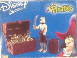 Pirata con cofre del tesoro (Pirates) Disney Aventuras