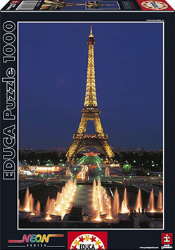 Puzzle Educa ( Torre Eifel de Paris ) de neón