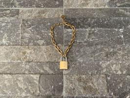 Louis Vuitton Monogram Lock Me Supple Armband in Gold/Silber