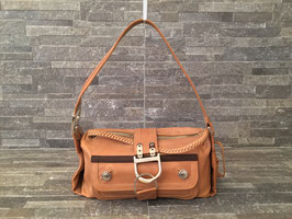 Christian Dior Flight East West Hobo in Braun