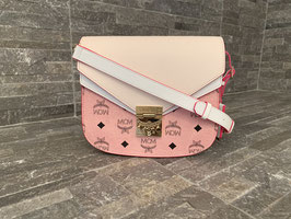 MCM Visetos Patricia Small in Soft Pink & Shell